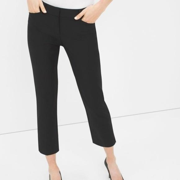 White House Black Market Pants - WHBM Perfect Form Straight Crop Size 8 Black